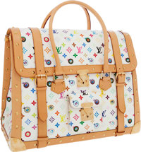 Louis Vuitton Extremely Rare 2003 Limited Edition Eye Love Monogram by Takashi Murakami White Eye Dare You Overnight Bag...