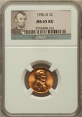 Lincoln Cents, (10)1956-D 1C MS65 Red NGC. NGC Census: (326/2071). PCGS Population(682/1385). Mintage: 1,098,201,088. Numismedia Wsl. Pri... (Total:10 coins)