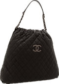 Luxury Accessories:Bags, Chanel Black Caviar Leather Hobo Bag. ...