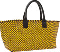 Luxury Accessories:Bags, Bottega Veneta Limited Edition Black & Yellow Patent LeatherCabat Tote Bag. ...