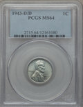 1943-D/D 1C MS64 PCGS. PCGS Population (49/70). NGC Census: (0/0). ...(PCGS# 2715)