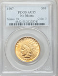 Indian Eagles: , 1907 $10 No Periods AU55 PCGS. PCGS Population (322/5439). NGCCensus: (127/5762). Mintage: 239,400. Numismedia Wsl. Price ...