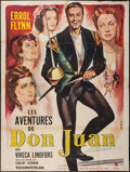"""Movie Posters:Swashbuckler, The Adventures of Don Juan (Warner Brothers, R-early 1960s). French Grande (47"""" X 63""""). Swashbuckler.. ..."""