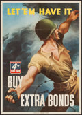 "Movie Posters:War, World War II War Bonds Poster (U.S. Government Printing Office,1943). 4th War Loan Poster (20"" X 28"") ""Let 'Em Have It! Buy..."