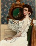 Fine Art - Painting, American:Modern  (1900 1949)  , WILLIAM SERGEANT KENDALL (American, 1869-1938). Portrait ofMildred Stokes, 1901. Oil on canvas . 40 x 32 inches (101.6 ...