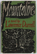 Books:Fiction, Lawrence Durrell. SIGNED. Mountolive. Faber and Faber, 1958.First English edition. Signed by the author on the ...