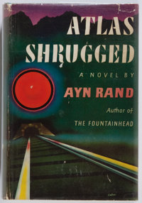 Ayn Rand. SIGNED. Atlas Shrugged. Random House, 1957. First edition, first printing