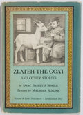 Books:Fiction, Isaac Bashevis Singer, author and Maurice Sendak, illustrator.SIGNED BY MAURICE SENDAK. Zlateh the Goat. Harper...