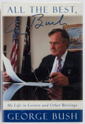 Books:Biography & Memoir, George H. W. Bush. SIGNED. All the Best, George Bush. My Life inLetters and Other Writings. A Lisa Drew Book/Sc...