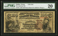 National Bank Notes:Texas, Dallas, TX - $100 1882 Brown Back Fr. 527 The American NB Ch. # 3132. ...