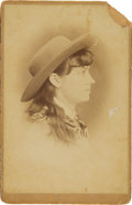 Photography:Cabinet Photos, Annie Oakley: Sensational, Previously Unpublished and PossiblyUnique Cabinet Photograph....