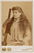 Photography:Cabinet Photos, Annie Oakley: A Cabinet Photo Taken in Columbus, Ohio, ProbablyDuring the Summer of 1896....