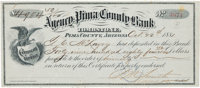 Tom McLaury: A Unique and Highly Important Bank Deposit Receipt and Check Related to the Legendary O. K. Corral Gunfight...