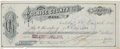Autographs:Celebrities, John Slaughter: A Scarce Check Made Out to this Famous TombstoneSheriff. ...