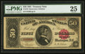 Large Size:Treasury Notes, Fr. 376 $50 1891 Treasury Note PMG Very Fine 25.. ...