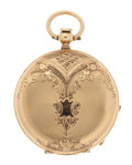 Timepieces:Pocket (pre 1900) , Henry Beguelin 18k Gold Key Wind Pocket Watch. ...