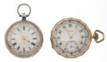 Timepieces:Pocket (post 1900), Elgin & Swiss Key Wind Pocket Watches Runners. ... (Total: 2Items)