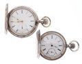 Timepieces:Pocket (post 1900), Longines & Swiss Coin Silver Hunter's Case Pocket Watches. ... (Total: 2 Items)