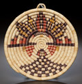 American Indian Art:Baskets, A HOPI PICTORIAL BUNDLE COILED TRAY...