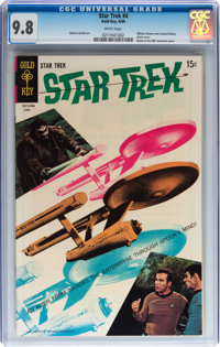 Star Trek #4 (Gold Key, 1969) CGC NM/MT 9.8 White pages