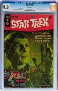 Star Trek #3 (Gold Key, 1968) CGC NM/MT 9.8 White pages