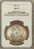 Morgan Dollars: , 1889 $1 MS63 NGC. NGC Census: (15824/16472). PCGS Population(13930/11584). Mintage: 21,726,812. Numismedia Wsl. Price for ...