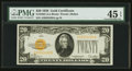 Small Size:Gold Certificates, Fr. 2402 $20 1928 Gold Certificate. PMG Choice Extremely Fine 45 EPQ.. ...