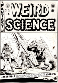 "Wally Wood Weird Science #15 ""Captivity"" Cover Original Art (EC, 1952)"