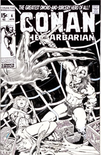 "Barry Smith Conan the Barbarian #4 ""The Tower of the Elephant"" Cover Original Art (Marvel, 1971)"