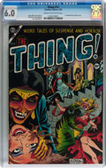Golden Age (1938-1955):Horror, The Thing! #12 (Charlton, 1954) CGC FN 6.0 Cream to off-whitepages....