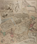 "Books:Maps & Atlases, [Antique Maps] Lot of 12 Antique Maps Featuring Mainly WesternHemisphere Countries. Various sizes from 5"" x 8"" to 10"" x 12""..."