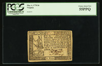 Virginia May 4, 1778 (Dates Handwritten) $6 PCGS Choice About New 55PPQ