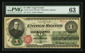 Large Size:Legal Tender Notes, Fr. 16c $1 1862 Legal Tender PMG Choice Uncirculated 63.. ...