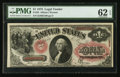 Large Size:Legal Tender Notes, Fr. 26 $1 1875 Legal Tender PMG Uncirculated 62 EPQ.. ...