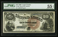 Large Size:Legal Tender Notes, Fr. 108 $10 1880 Legal Tender PMG About Uncirculated 55 EPQ.. ...