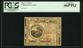 Colonial Notes:Continental Congress Issues, Continental Currency May 9, 1776 $6 PCGS Gem New 66PPQ.. ...