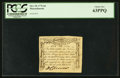 Colonial Notes:Massachusetts, Massachusetts October 18, 1776 6d Codfish PCGS Choice New 63PPQ.. ...