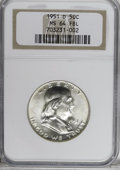 1951-D 50C MS64 Full Bell Lines NGC. NGC Census: (377/221). PCGS Population (999/586). Numismedia Wsl. Price for NGC/PCG...