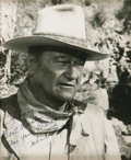 "Movie/TV Memorabilia:Autographs and Signed Items, John Wayne Signed Photo. B&w 8"" x 10"" photo inscribed ""Barbara,Best wishes to you -- also your grandparents"" and signed by ...(Total: 1 Item)"