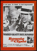 """Movie Posters:Crime, Bonnie and Clyde (Warner Brothers, 1967). French Petite (23.5"""" X31.5""""). Crime. ..."""
