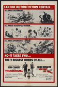 """Movie Posters:James Bond, Thunderball/You Only Live Twice Combo (United Artists, R-1970). One Sheet (27"""" X 41""""). James Bond. ..."""