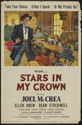 "Movie Posters:Western, Stars in My Crown (MGM, 1950). One Sheet (27"" X 41""). Western...."