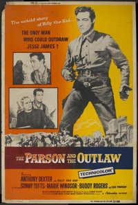 "The Parson and the Outlaw (Columbia, 1957). Poster (40"" X 60""). Western"