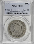 Bust Half Dollars: , 1829 50C VG8 PCGS. PCGS Population (2/834). NGC Census: (1/2072).Mintage: 3,712,156. Numismedia Wsl. Price for NGC/PCGS co...