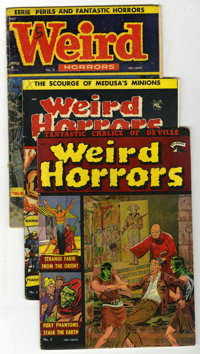 Weird Horrors #3, 5, and 8 Group (St. John, 1952-53).... (Total: 3 Comic Books)
