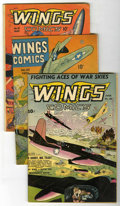 Golden Age (1938-1955):War, Wings Comics Group (Fiction House, 1943-48) Condition: AverageVG.... (Total: 3 Comic Books)