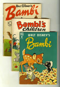 Golden Age (1938-1955):Cartoon Character, Four Color Bambi Group (Dell, 1942-48) Condition: Average GD....(Total: 4 Comic Books)