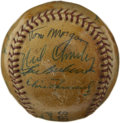 Autographs:Baseballs, 1960 Detroit Tigers Team Signed Baseball. The heavily-lacqueredDetroit Tigers souvenir baseball sports the signature of a ...