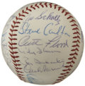 Autographs:Baseballs, 1965 St. Louis Cardinals Team Signed Baseball. Twenty-five membersof the talent-laden 1965 St. Louis Cardinals squad have ...