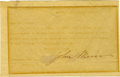 """Autographs:Celebrities, John Muir Typed Letter Signed """"John Muir,"""" one page, 7.5"""" x5"""". Martinez, California, April 3, 1909. To Gouveneur Rogers...(Total: 1 Item)"""